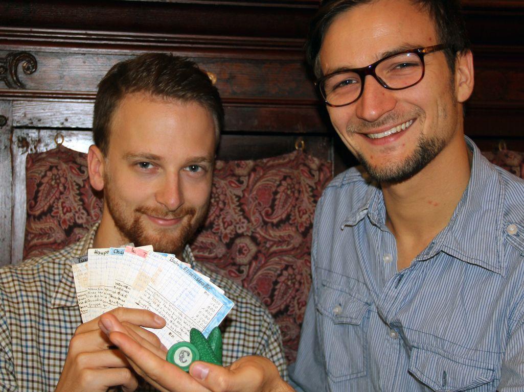Richard Geis und Martin Thiele (mit Brille). Foto: Sebastian Wenzel