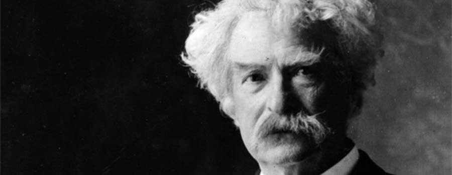 Mark Twain. Foto: Ernest Herbert Mills, Public Domain